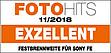 "Testurteil ""Exzellent"" für Sony E-Mount laut FotoHITS 11/2018"